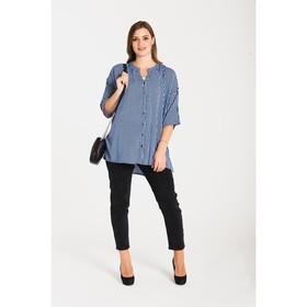 Блуза женская 61053 цвет голубой, р-р 56 (5XL/50)