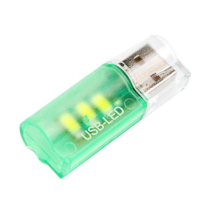 Светильник USB 3 LED, пластик, цвет МИКС