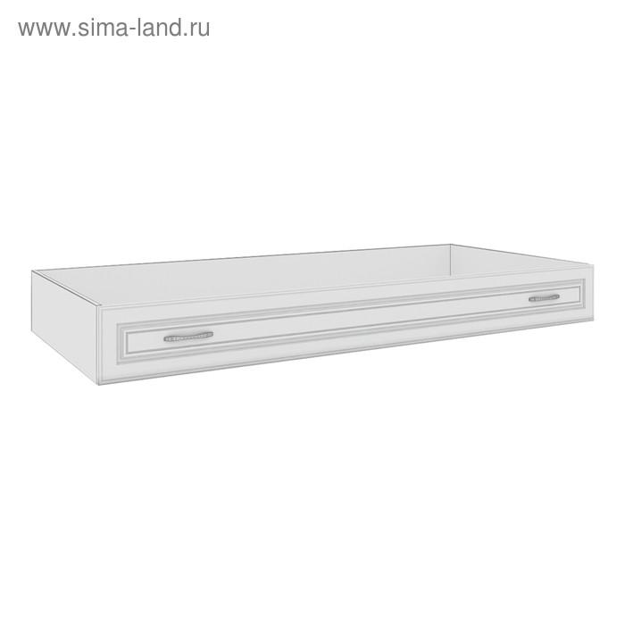 Ящик для кровати 120 Мальвина-1, 1908х846х220, Ясень белый/Патина серебро
