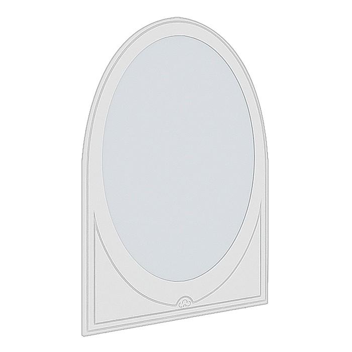 Зеркало Мальвина-1 №1, 1090х796х16, Ясень белый/Патина серебро