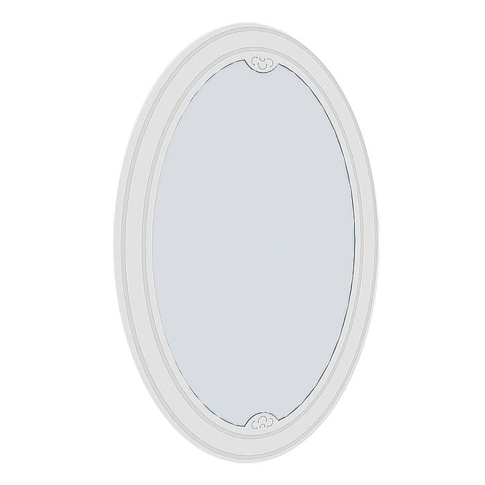 Зеркало Мальвина-1 №2, 1000х700х16, Ясень белый/Патина серебро