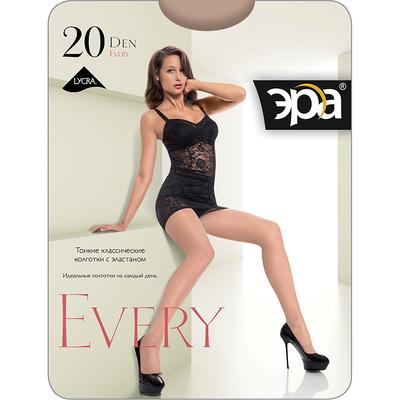 Колготки женские ЭРА Every 20 цвет телесный, р-р 2