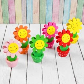 Визитница-прищепка 'Цветочек улыбка с рисунком', цвета МИКС Ош