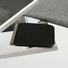 Зажим для купюр ZS-10-300, 11*1*8, с метал держателем, черный доллар