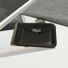 Зажим для купюр Z-12-300, 11*1*8, с метал держателем, отд д/монет, черный доллар