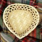 "Хлебница ""Сердце"" бамбук 20 см"