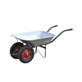 Тачка садовая, 2-колёсная: груз/п 200 кг, объём 65 л, пмневмоколесо 360 х 16 мм, кузов ОЦ 0.6 мм