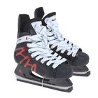 Коньки хоккейные 206Р black, разм. 38 в пакете
