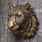 """Подвесной декор """"Голова тигра"""" бронза, 24см"""