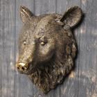 """Подвесной декор """"Медведя голова"""" бронза, 44х30см"""
