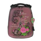 Рюкзак каркасный Hummingbird 39*28*20 для девочки «Париж», сиреневый 88Т