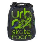Рюкзак каркасный Hummingbird 39*28*20 для мальчика Skateboard, чёрный/зелёный 92Т