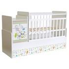 Детская кровать-трансформер «Фея 1100», цвет белый «Панды»