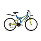 "Велосипед 26"" Altair MTB FS 26, 2018, цвет синий/желтый, размер 18"""