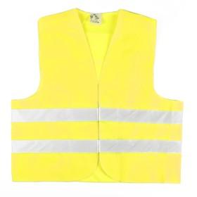 Жилет сигнальный светоотражающий, размер XL, лимонный