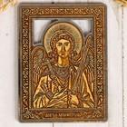 Икона «Ангел хранитель», серебристая, береста