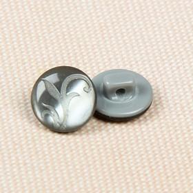 Пуговица декоративная, на ножке, 11мм, цвет серый