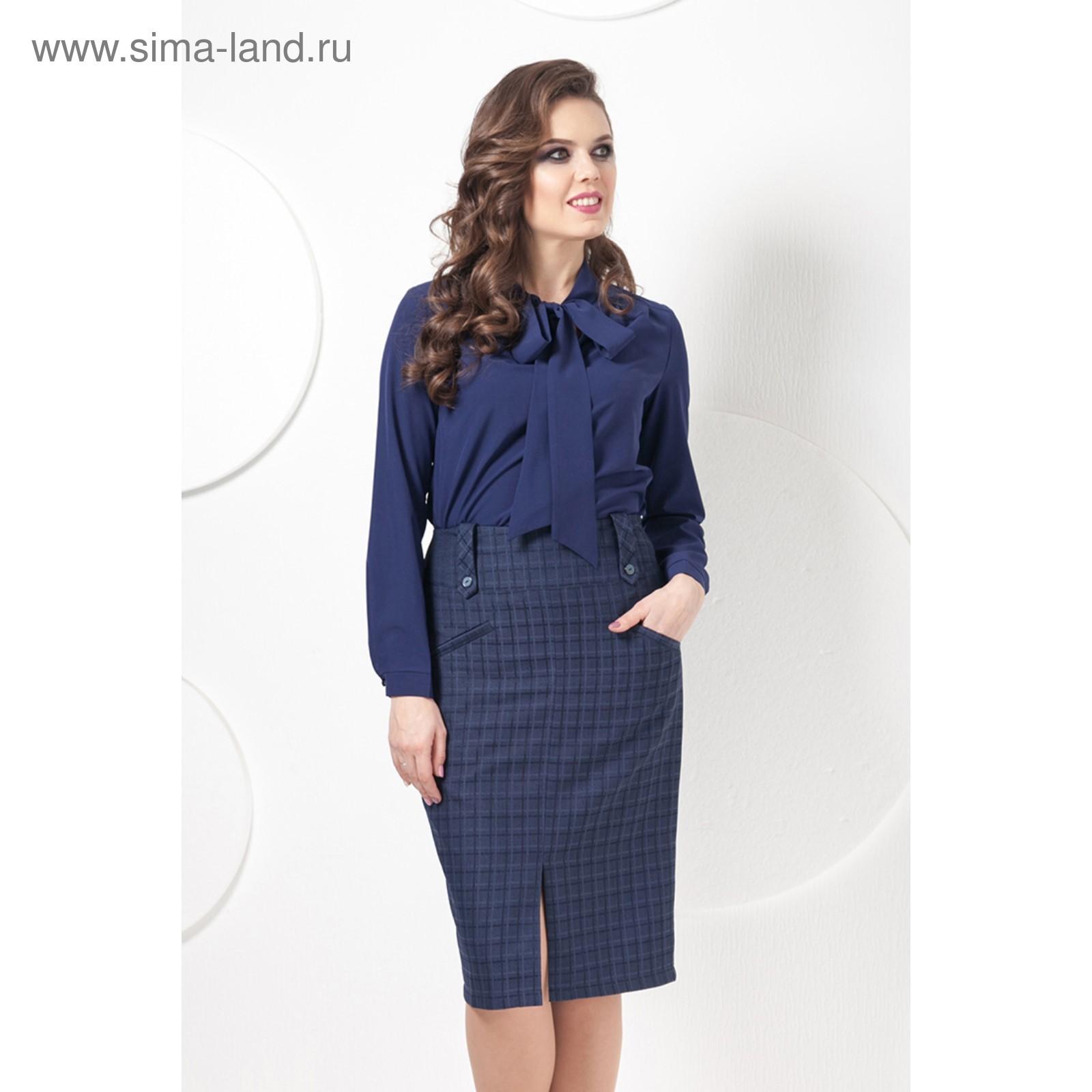 Юбка Ю-202 женская, размер 46, цвет темно-синий (3415040) - Купить ... 6bbcb30f66c