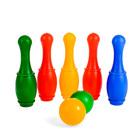 """Боулинг """"Набор 33"""", цветной, 5 кеглей, 2 шара, в пакете"""