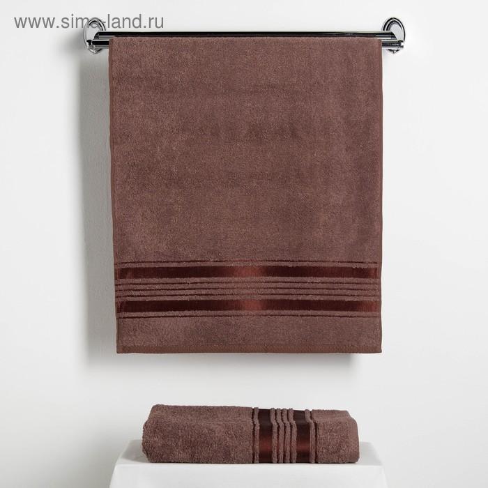"""Набор полотенец Fidan """"Incanto"""" 50х90,70х130 см. 80% бамбук,20% хл. 450 г/м2, коричневый"""