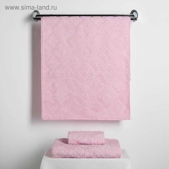 """Набор полотенец Fidan """"Unique"""" 30х70,50х90,70х130 см,(3)80% бамбук,20% хл.450г/м2,розовый"""
