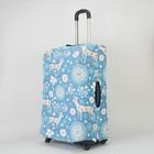"""Чехол для чемодана 28"""", 47*28*69, Животный мир на голубом"""