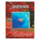 """Дневник для 1-11 класса, твёрдая обложка """"Осенним вальсом кружат листья"""", 40 листов"""