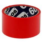 Клейкая лента упаковочная 48 мм х 24 м, 45 мкм UNIBOB (красная)