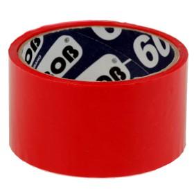 Клейкая лента упаковочная 48 мм х 24 м, 45 мкм UNIBOB (красная) Ош