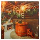 Картина для бани «Интерьер с купелью», 30х30 см