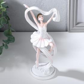 """Сувенир полистоун """"Балерина с белым шарфом"""" 16,5х9х6 см"""