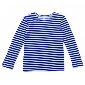 Тельняшка для мальчиков, рост 98-104 (28) см, цвет синий 11036