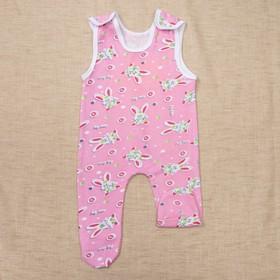 Ползунки длинные, рост 86 см, цвет розовый, принт микс 1019-86-56 Ош
