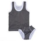 Комплект для мальчика (майка+трусы) рост 68-74 см, цвет серый принт микс 1060-48