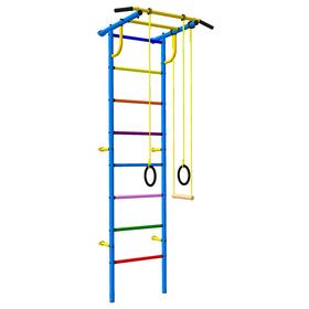 Детский спортивный комплекс 3.1 Роки-Ленд, цвет сине-цветной, с навесным оборудованием