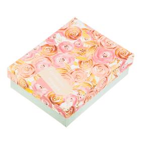 Подарочная коробочка для наборов «Роскошь золота», 7 х 9 х 2,8 см. Ош