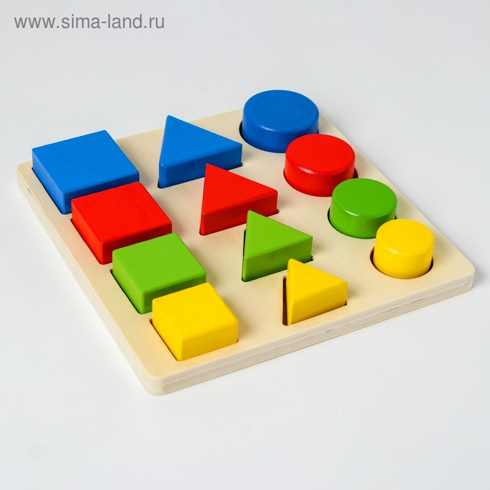 """Головоломка """"Логические дроби"""" учим формы, цвета и размеры, 12 элементов"""