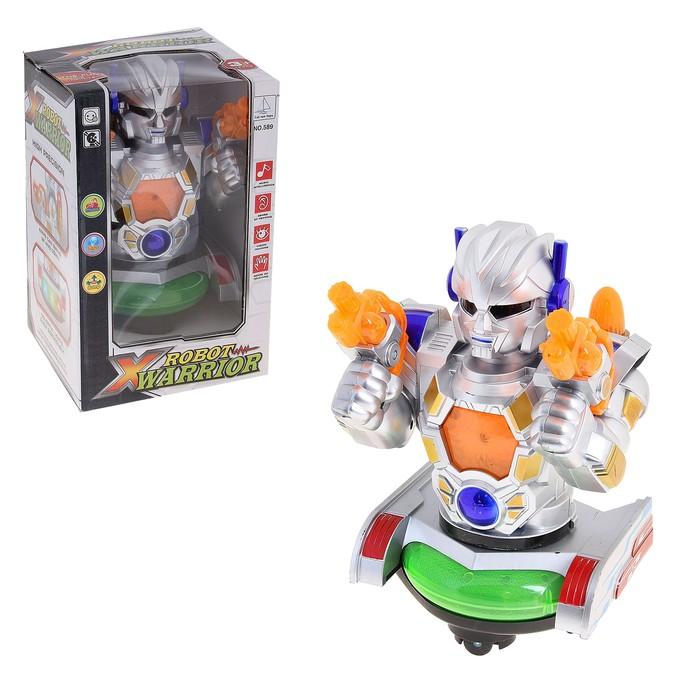 """Робот """"Пришелец"""", работает от батареек, со световыми и звуковым эффектами"""