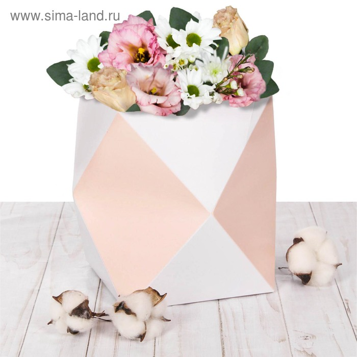 Коробка–ваза для цветов «Пастельное настроение», 59 х 28 см