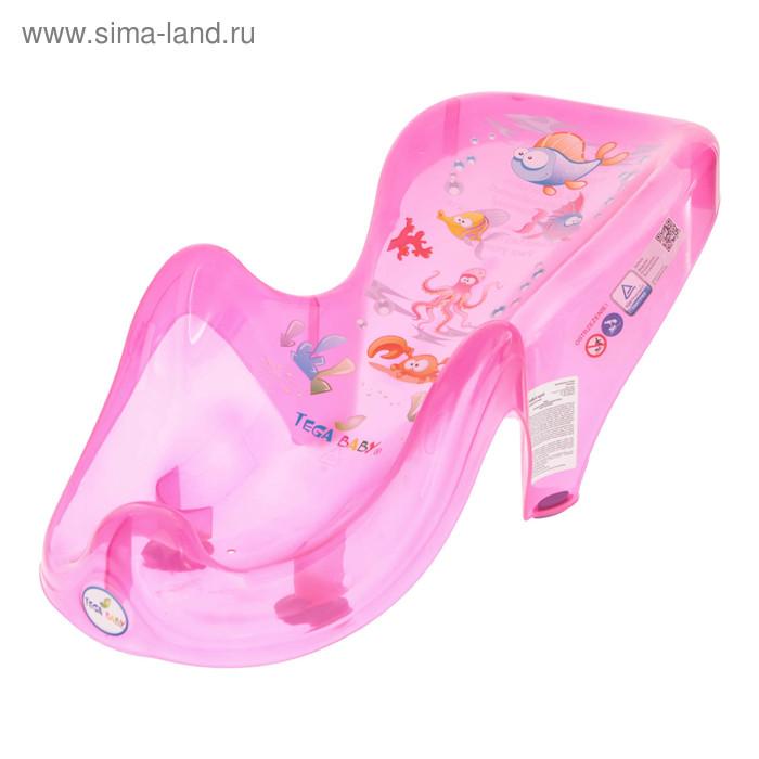 Горка для купания анатомическая «Аква», на присосках, цвет розовый