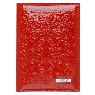 Бумажник для автодокументов, отдел для кредитных карт, 10 карманов,, цвет красный