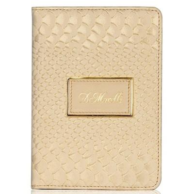 Обложка для паспорта, цвет золотой