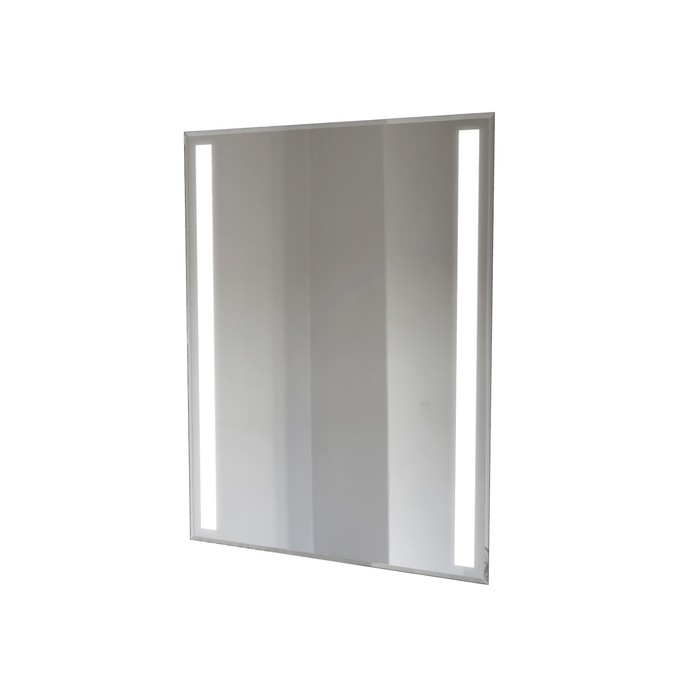 Зеркало прямоугольное 70х90 см, 4 мм, , фацет 10 мм, основа МДФ 16 мм,  LED лента, арт_11