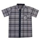 Рубашка для мальчика, рост 80 см, цвет синий 7818-1_М