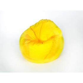 Кресло-мешок 'Груша' малая, ширина 60 см, высота 85 см, цвет жёлтый, плащёвка Ош