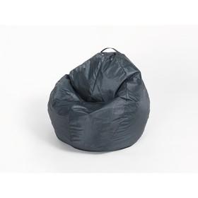 Кресло-мешок 'Груша' малая, ширина 60 см, высота 85 см, цвет сине-чёрный, плащёвка Ош
