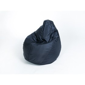 Кресло-мешок 'Груша' средняя, ширина 75 см, высота 110 см, цвет сине-чёрный, плащёвка Ош