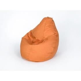 Кресло-мешок 'Груша', малая, ширина 60 см, высота 85 см, цвет оранжевый, рогожка Ош