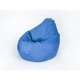Кресло-мешок 'Груша', малая, ширина 60 см, высота 85 см, цвет васильковый, рогожка Ош