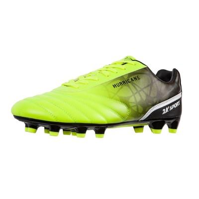 Футбольные бутсы 2K Sport Hurricane FG, lime/black, размер 40